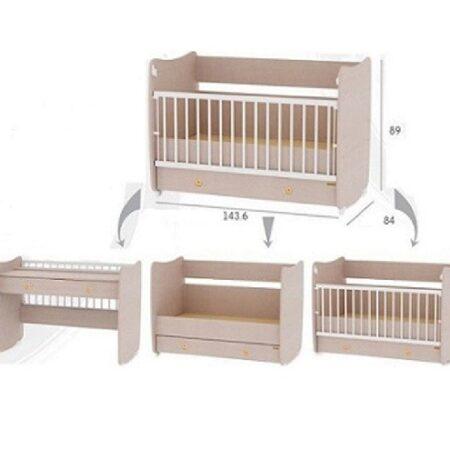 Κρεβάτι 60-120 μετατρεπόμενο Lorelli Dream Λευκό.