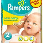 pampers new baby monthly pack 240 temaxia