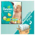 Πάνες Ρampers Baby Dry Monthly pack 1 (152τεμ) Νο 4+ (9-20kg)