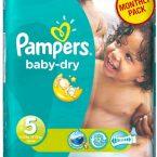 Πάνες Ρampers Baby Dry Monthly pack (144τεμ) Νο 5 (11-25kg)