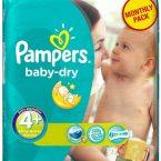 Πάνες Ρampers Baby Dry Monthly pack (152τεμ) Νο 4+ (9-20kg)