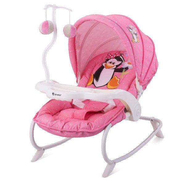 Ρηλάξ με παιχνίδι Dream Time Lorelli Pink Penguin