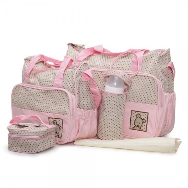 Τσάντα αλλαγής του μωρού σετ Cangaroo Stella Pink