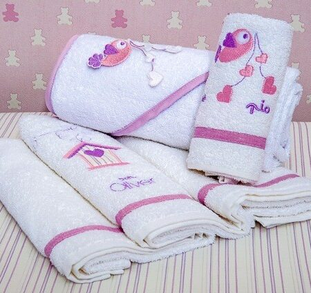 Σετ προίκα μωρού Baby Oliver 300 Lilac Dream Birds