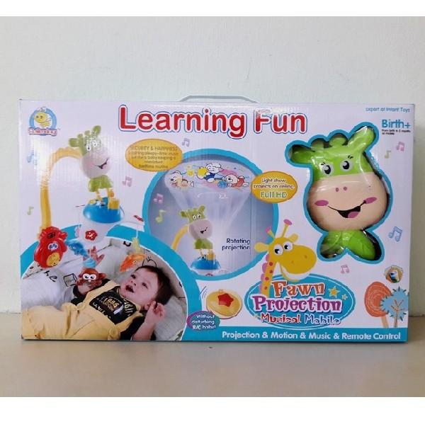 Μουσικό κρεβατιού με προβολέα Learning Fun Moni