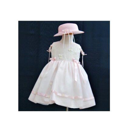 Βαφτιστικό Φόρεμα με καπέλο 100120