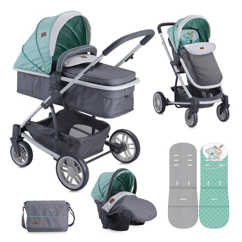 Lorelli Bertoni S500 Combi Set Grey Green Friends πολυκαρότσι