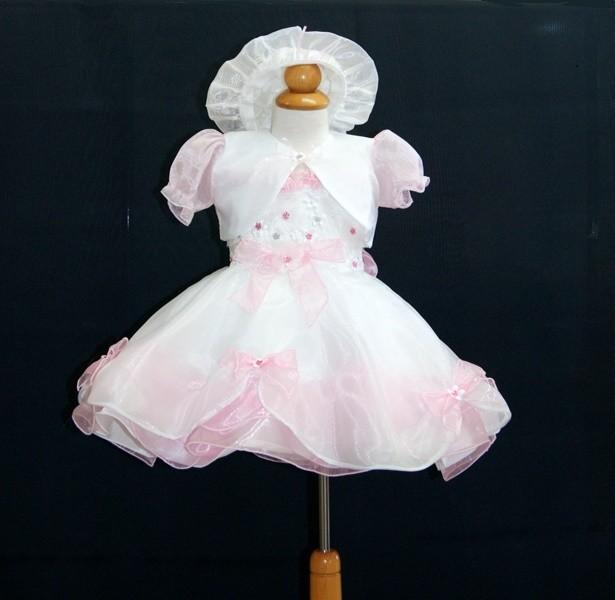 Βαφτικό φόρεμα με καπέλο και μπολερό 100155